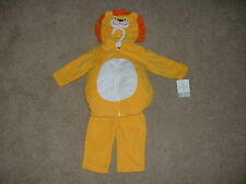 Baby Boy Fleece Lion Halloween Costume Set Size 3-6 months 6 mos NWT NEW Carters