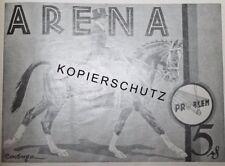 Problem Zigaretten Arena Reiter Pferd Rar Werbeanzeige 1928 Reklame Werbung ad