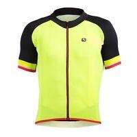 Giordana Cycling SilverLine Short Sleeve Jersey Mens|Black- Yellow/Fluo