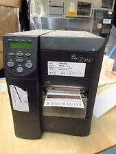 Zebra Z4M Z4M00-0004-0000 DT/TT Label Printer Parallel LINES - Button Damaged