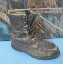 Rare! Vintage TED WILLIAMS 30170 Gray Leather Hunting / Work Boots -sz Men's 8 D