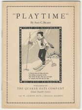 """""""Playtime"""" -Quaker Oats 1935 'School Health Service' Booklet"""