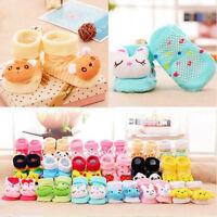Baby Girl & Boy Anti-slip Socks Cartoon Newborn Slipper Shoes Boots 0-6 Months