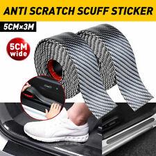 2x 2M*5CM Car Door Plate Sill Anti Scratch Sticker Scuff Cover Carbon Fiber