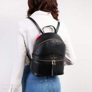 NWT Kate Spade Karina Medium Leather Backpack in Black