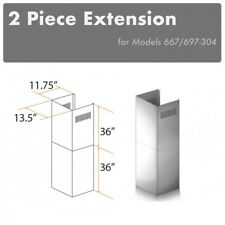 Zline Wall Chimney Extension up to 12 ft ceiling Outdoor model 697-304, 667-304