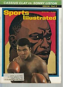 May 24, 1965 Cassius Clay vs. Sonny Liston Boxing SPORTS ILLUSTRATED