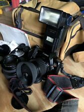 CANON REBEL EOS  Film Camera  with 35-80mm Lens, Instructions & Bag, Vintage