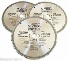 "3 ATE PRO 10"" CIRCULAR TABLE MITER SAW BLADES 120T 120 TOOTH CARBIDE TIP 33086"