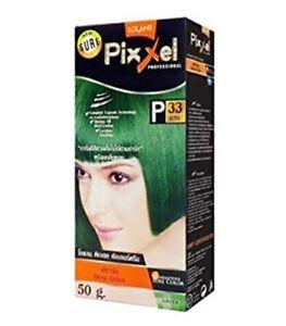 Lolane Pixxel Permanent Hair Dye Colour Cream Kit Deep Green P33