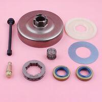 Clutch Sprocket Rim Drum For Husqvarna 272 268 266 66 61 w Oil Filter Line Seal