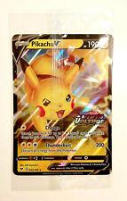 Pikachu V 043/185 Pokémon Sword & Shield Vivid Voltage Promo JUMBO card STAMP