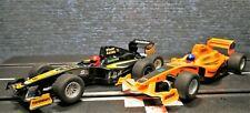 1/32 Slotcar Formel 1 Doppelpack Schwarz - Orange Team Scalextric 4114 + 4113