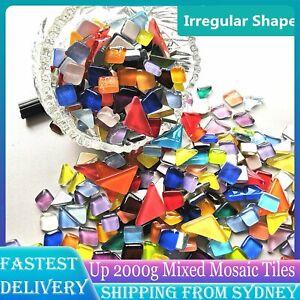 Up 2000G Mixed Crystal Glass Mosaic Tiles Irregular Kitchen Bathroom Art Craft