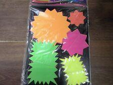 NEW 50 ASSTD DAYGLO/FLOURESCENT STARS FLASH CARDS
