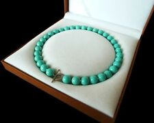 schön AAA 12mm runde Türkisblau farbe Schale Perle Halskette 18 zoll