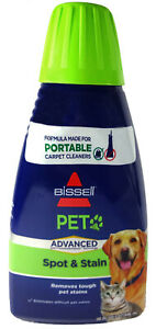 Bissell Pet Advanced Spot Stain Odor Formula For Portable Carpet Cleaners, 32 oz
