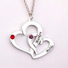 Halskette Herz Liebe mit Gravur Namenskette Freundschaftskette Partnerkette 18