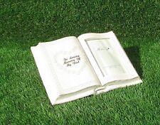 DAD MEMORIAL PHOTO BOOK GRAVE CEMETERY OR CHURCH YARD ORNAMENT