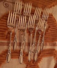 Oneida White Orchid silverplate flatware set of 8 salad forks