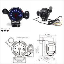 3.5'' Tachometer Gauge Kit Blue LED Car Meter with Shift Light & Stepping Motor