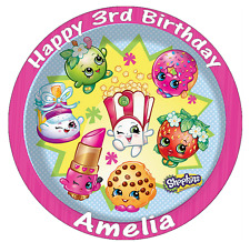Shopkins Party Personalised Cake Topper Edible Wafer Paper 7.5""