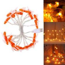20 LED Lights Honey Bee String Lights Fairy Warm white Light USB Power Lamp