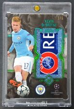 2017-18 Topps Museum UEFA Champions Emerald Kevin De Bruyne JUMBO LOGO PATCH 1/1