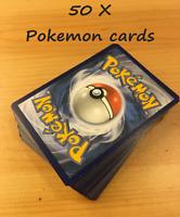 50 Pokemon Cards Bulk  ** Rare and foil cards guaranteed ** No Duplicates