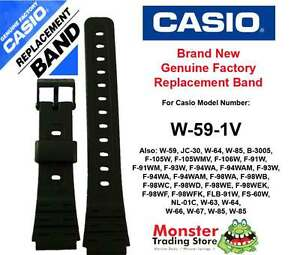 CASIO WATCH BAND REPLACEMENT ORIGINAL 18MM WOULD FIT: F91,F-91,W59,W-59-1V other