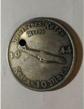 Piece Hitler 1944 10 RM Reichsmark Coin Avion Arado Plane ww2 German