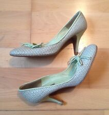 Absolutely Stunning Green & Beige Dune Shoes - Size 37 / UK Size 4