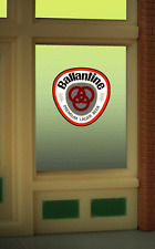 """BALLANTINE BEER  WINDOW SIGN -CAN BE TRIMMED AS SMALL AS 1"""" W X 0 .9"""" T"""