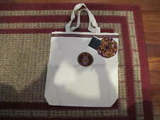 AUTH NEW ANNA SUI FLOWER TOTE BAG IVORY