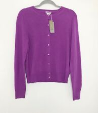 NWT J.CREW 100% Cashmere Pink Cardigan Button Up Sweater Cozy Size Large A1