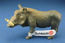 SCHLEICH 14145 - Warzenschwein - mit Fähnchen - Warthog - Wildlife -Schleichtier