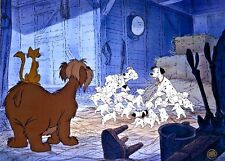 Disney 101 Dalmatians Cel Warm Reunion Rare Animation Art Limited Edition Cell