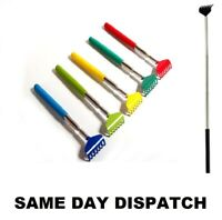 NEW TELESCOPIC EXTENDABLE BACK SCRATCHER HANDY PORTABLE METAL CLIP NOVELTY XMAS