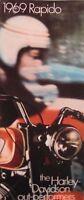 1969 Harley Davidson Rapido 125cc Original Brochure Motorcycles