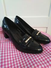Footglove black patent leather shoes size UK 5 VGC