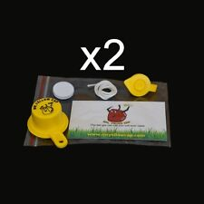 2X - Combo Packs - 1 BLITZ Yellow Spout Cap & 1 Vent Cap, per Pack -  8pcs total