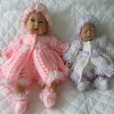 "Baby Dolls Knitting Pattern Matinee Set For 9-10"" & 14-15"" Dolls"
