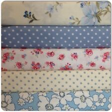 10 Piece Blue Bundle New 100% Cotton Floral Fabric, Material New range (CODE008)