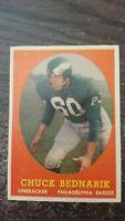 1958 Topps Football Chuck Bednarik #35 Philadelphia Eagles VG/EX