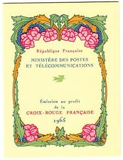 CARNET N° 2014 **  FRANCE CROIX ROUGE 1965