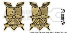 New! Mad Max MFP MAIN FORCE DECAL STICKER - TWIN SET - MFP 3582