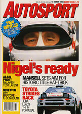 Autosport 10 Mar 1994 -  Mansell is the clear favourite,Prost, Toyota, Benetton.