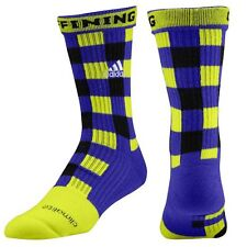 New Large Men's Adidas RGIII  Griffing Socks Electricity/Blast Purple/Black NWT
