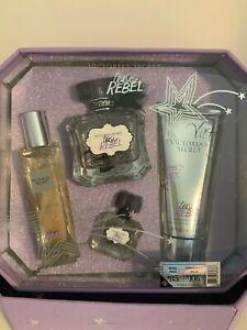 Victoria's Secret Tease Rebel Gift Set Perfume/Fragrance, Wash,Oil And Travel