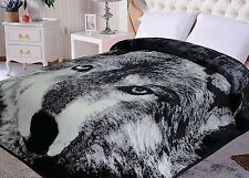 Hiyoko Wolf Animal Mink Blanket Throw Bedspread Comforter Cover 90x75